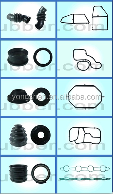 supplied TS16949 auto car spare parts/ customized rubber products