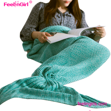 Paypal accept new design cotton knitted throw blanket