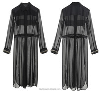 elegant design long sleeve long dress ladies mature dresses black dress