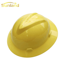 Promotional selling care industrial full brim orange safety helmet