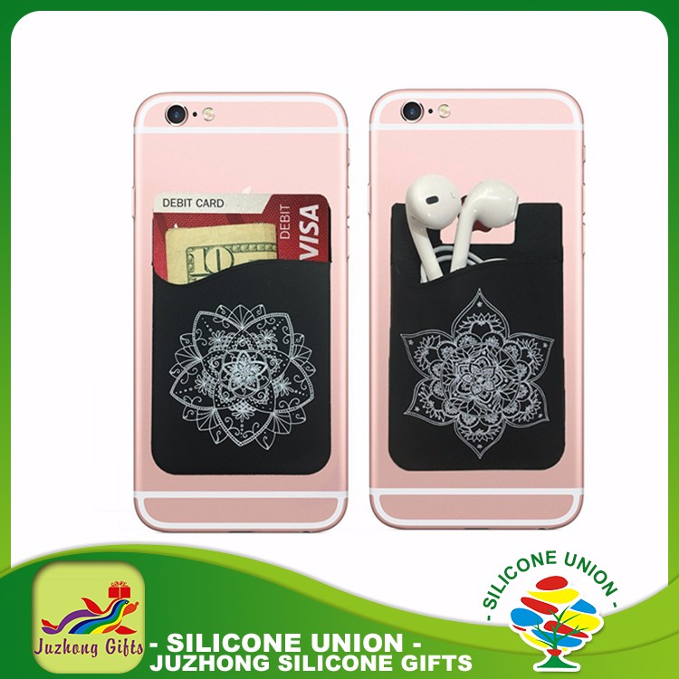 Custom Logo Promotional Silicon Card Holder for Phone