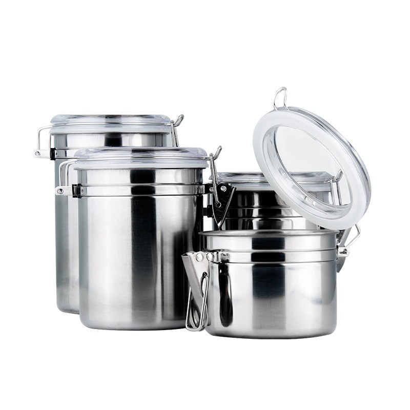 kitchen stainless steel round food storage container