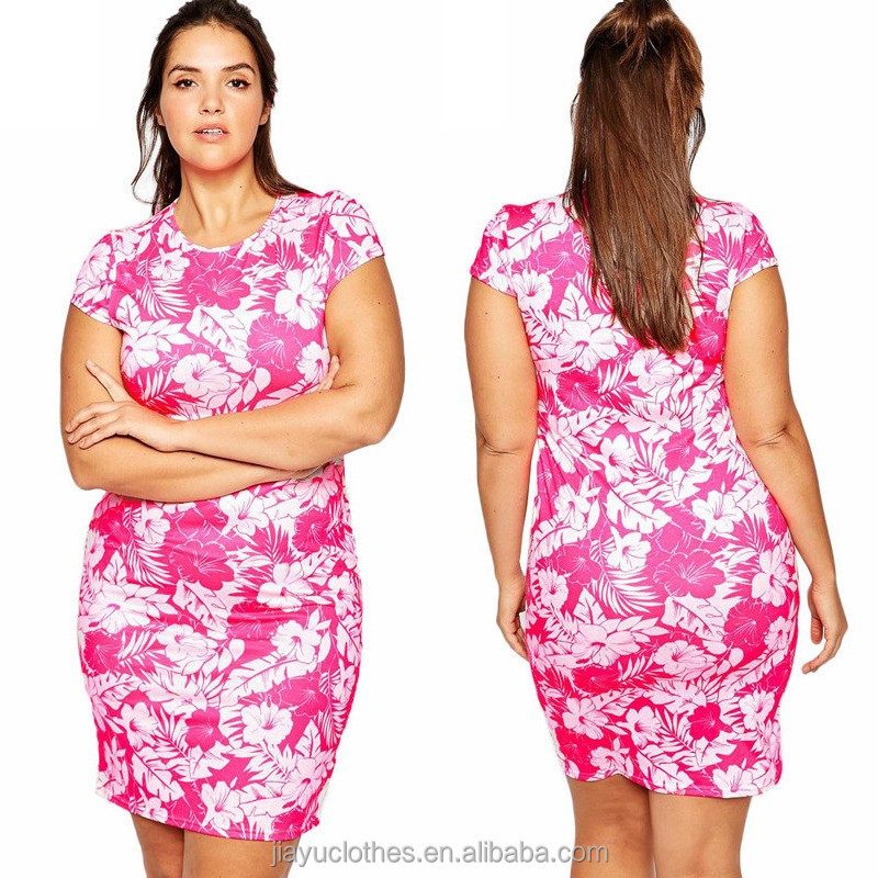 Lady summer sleeveless bodycon bandage dress with floral printing wholesale womens 4xl plus size dress