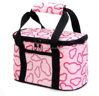 Outdoor fitness nonwoven insulated lunch bag cooler bag
