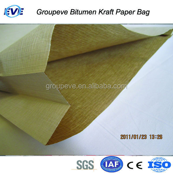 Kraft Paper Asphalt Packaging Bag Packing Kraft Paper Storage Bag 25Kg Bag For Hot Asphalt