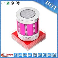 portable bluetooth sales professional disco lights speaker with fm radio for bicycle