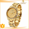 2016 Luxury men golden diamond watch for business