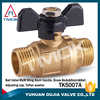 Forged 1/2'' Brass ball valve for water with steel handle for water and gas one way valve with ISO cetificate in China