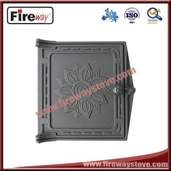 High Quality Cast Iron Fireplace Door