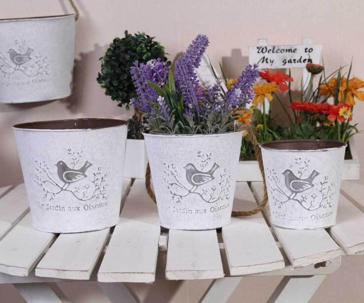 China supplier cheap price unique design rustic vintage various color flower pot for home decor