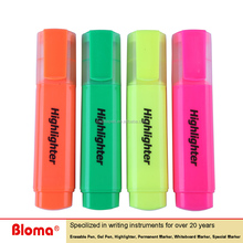 6 colors asst. chisel tip fluorescent flat highlighter marker pen for office and school underling