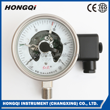High quality stainless steel electric contact pressure gauge service life with long