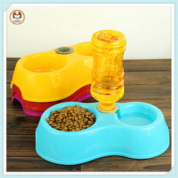 Double Dog Water Bowl Food Bowl Automatic Dog Water Bowl