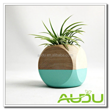 Audu Wood Planter Planter Box Bucket Barrel Pot