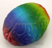 New multicolor brain shape stress ball squeeze ball health care educational gift