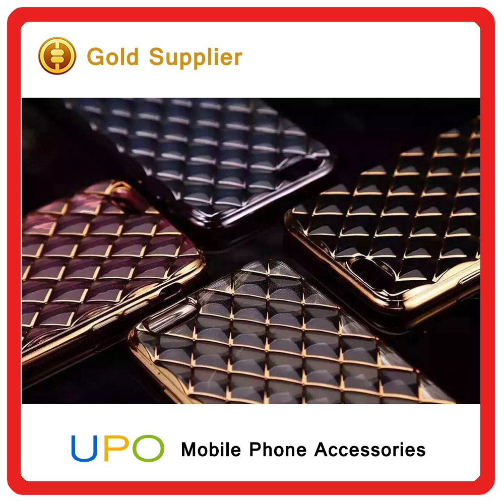 [UPO] Hot Sales Electroplating Diamond Soft TPU Shockproof Crystal Back Cover Cases for iphone 6