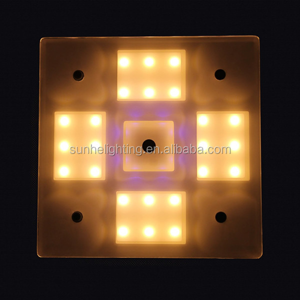 3 Years Warranty Square Ceiling Lights Epistar LED RV / Caravan / Work Truck Interior Light with Dimmable Touch Sensor Switch
