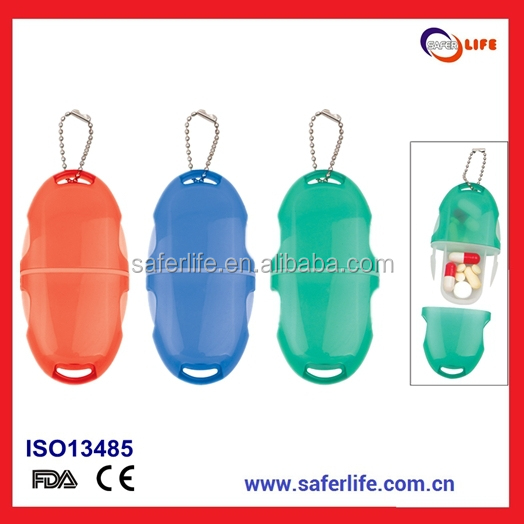 Best selling key chain plastic pill box for christmas gift