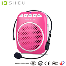 SHIDU Super portable Ultra light rechargeable mini radio plate amplifier with microphone for teaching