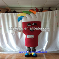 Custom made paint brush mascot costume