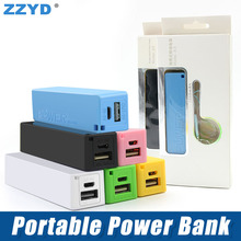 ZZYD Portable Power Bank 2600 mAh Mini USB Charger Universal Power Bank Charger For Mobile Phone External Battery