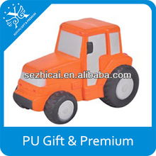 Excavator car pu stress soft toys pu squishy toys toy tractors