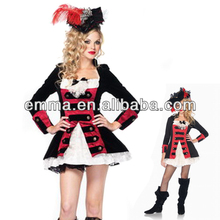 Charming Pirate Captain carnival costumes for teen girls CW-1745