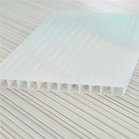 6mm Double Wall Hollow Polycarbonate Sheet For Greenhouse Roofing Glazing Glass UV Heat Insulation