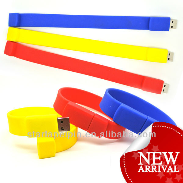 Cheap special bulk 1gb silicone wristband usb flash drive