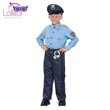 Factory cosplay children carnival costume police officer fancy dress halloween costume