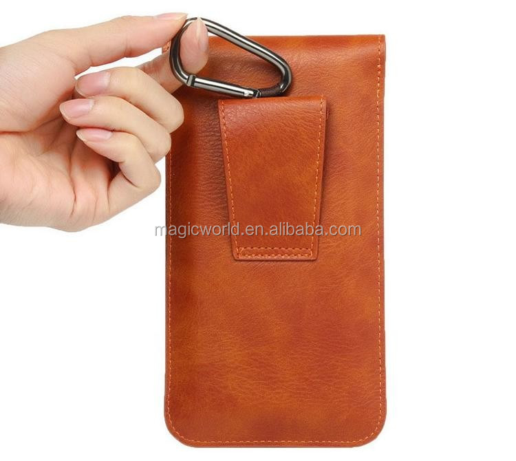 mobile Leather accessories For Iphone 7 Pouch Wallet Covers With Belt Hanger