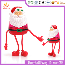 OEM eco-friendly ABS Santa Claus cartoon bendable figure for Candy