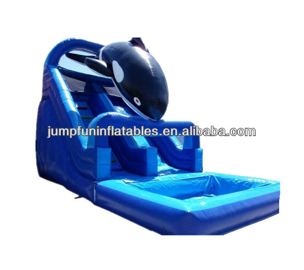 lovely inflatable dolphin water slide