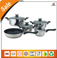 2015 New design eco friendly cookware set stainless steel cookware