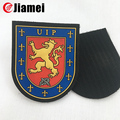 Cheap wholesale OEM custom military pvc arm badge black