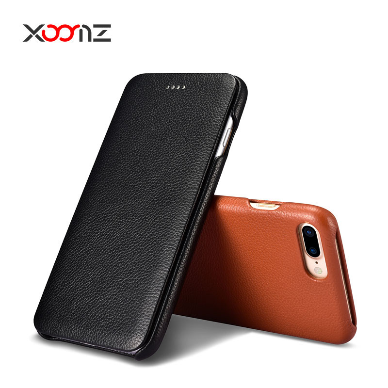 XOOMZ New Leather Flip Cover Case for iPhone 7 and 7plus