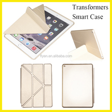 Transformers Multi-angle Stand Tablet Smart Cover for ipad air 2 Leather Case for ipad air 2 Smart Cover for ipad mini Hot Sell