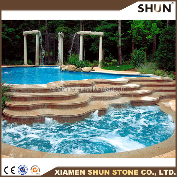 stone swimming pool coping/cheapest pool paving tile/swimming pool tiles price