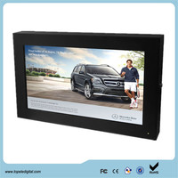 Sun-readable with auto light sensor wall mount type 24 inch LCD digital outdoor advertising monitors