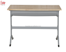 popular steel frame 2 student desk and chair set hot sale