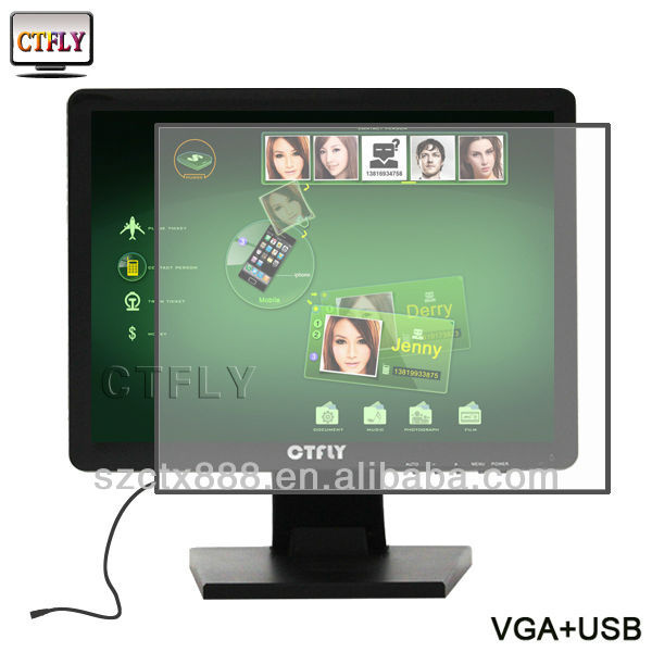 15 inch Cheap USB powered touch screen monitor + wifi