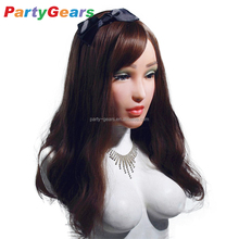 realistic woman female rubber silicone latex mask for crossdressing