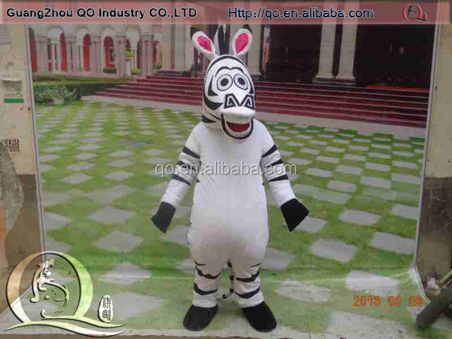 Advertising promotion fashion funny zebra mascot costumes for wholesale