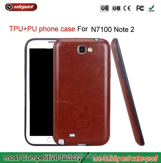 Factory price plastic tpu phone case for samsung galaxy Note2 N7100 mobile phone case for note2