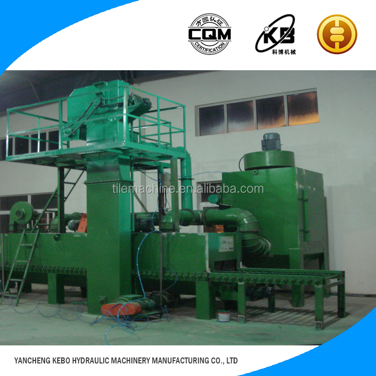 Top selling 2-6m/min Running speed movable type shot blasting machine