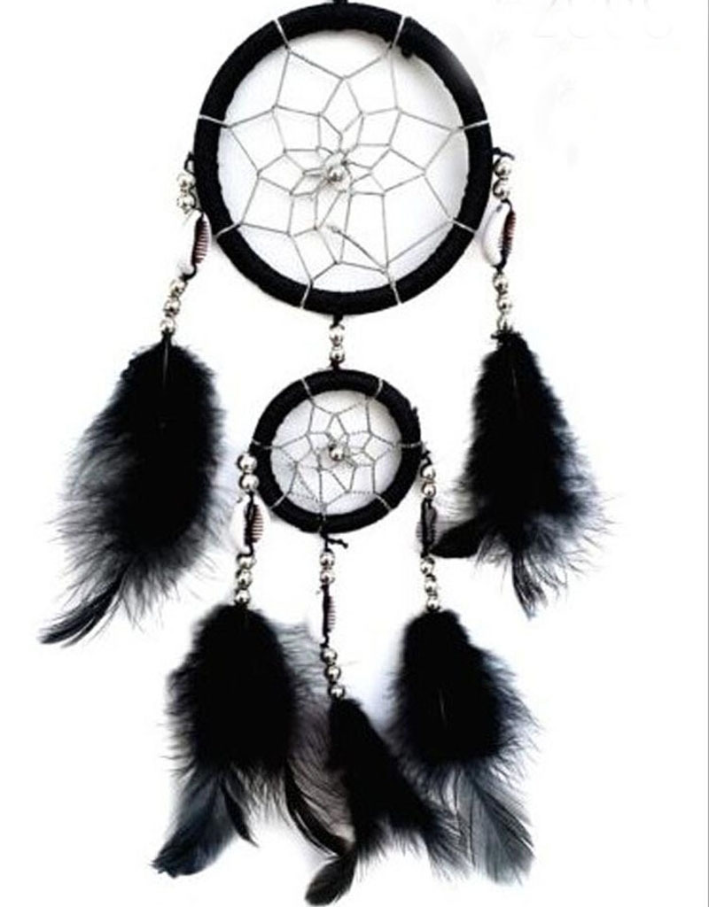 Wholesale 15pcs/lot Black Dream Catcher Original Wind Chimes Dreamcatcher Car Pendant Home Decor Free Shipping