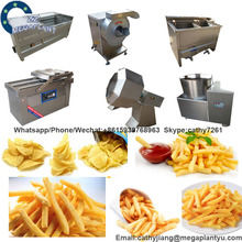 Flavored Potato Chips / Sticks Processing Machine / Frozen Potato Snack Production Line