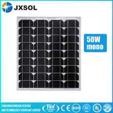 Full certificate and high efficiency high watt solar module mono 50w solar panel