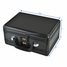 Double side black small aluminum case for tool