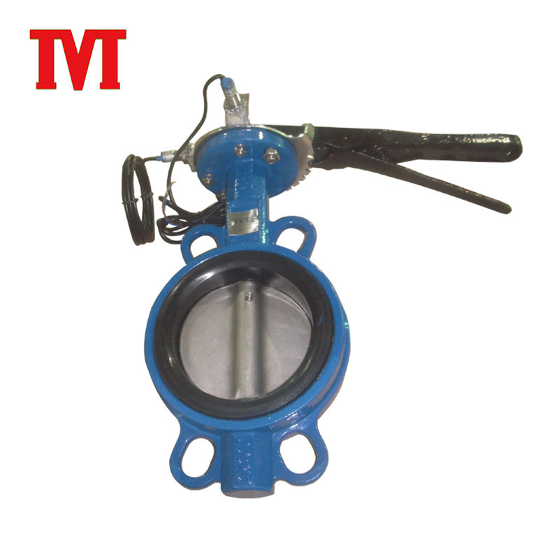 pneumatic control ci body wafer butterfly check valve